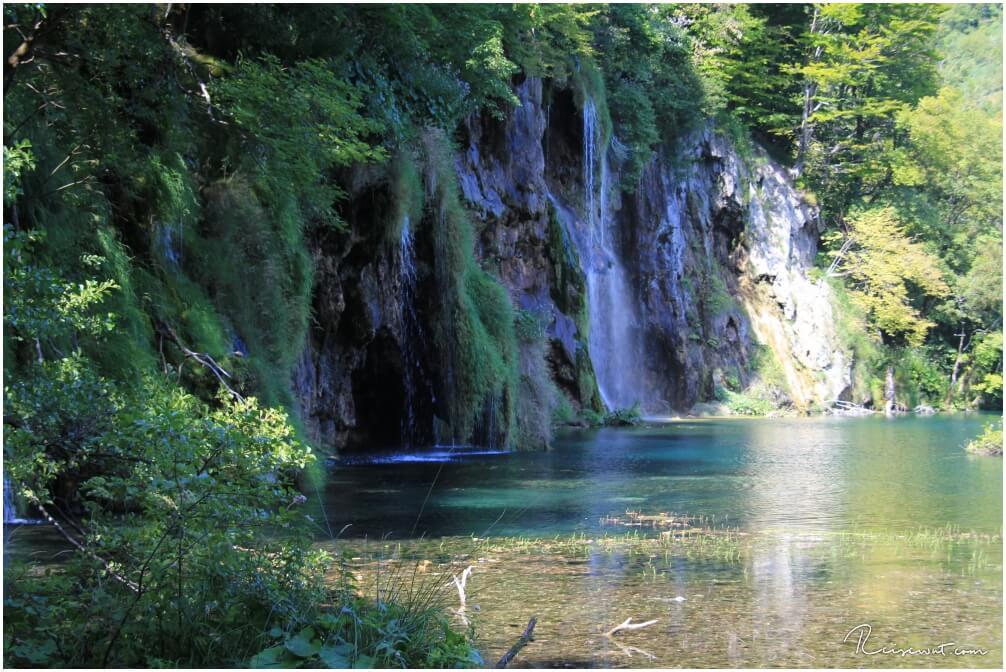 Wasserfall am Galovac See