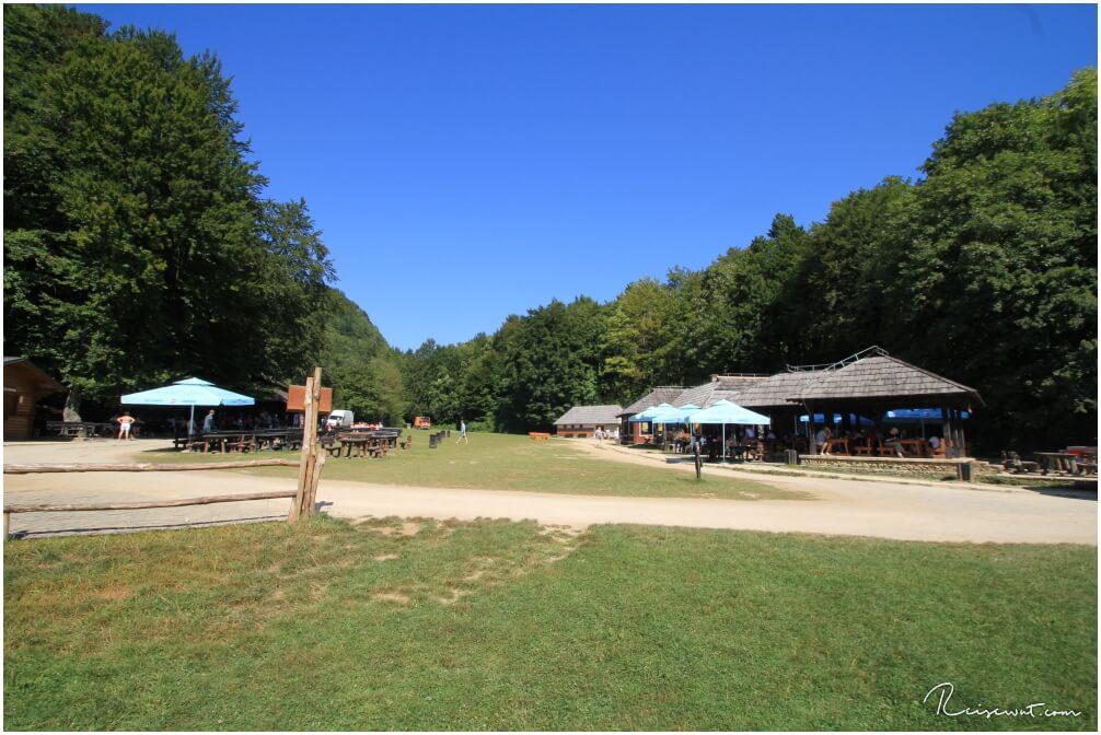 Der Rastplatz am Jezero Kozjac
