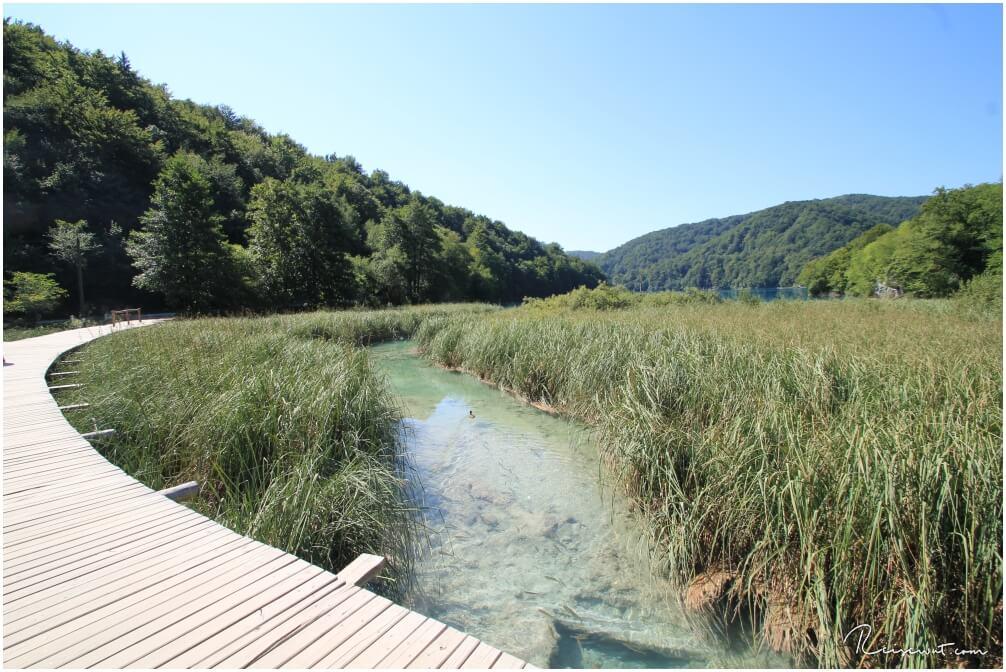Steg mit Blick auf Jezero Kozjak