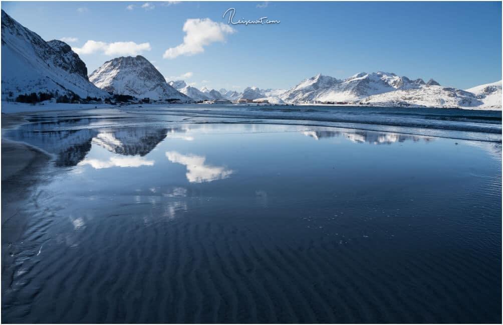 Der flach abfallende Strand eignet sich ideal für solche Aufnahmen und man braucht keine Angst vor nassen Füßen zu haben