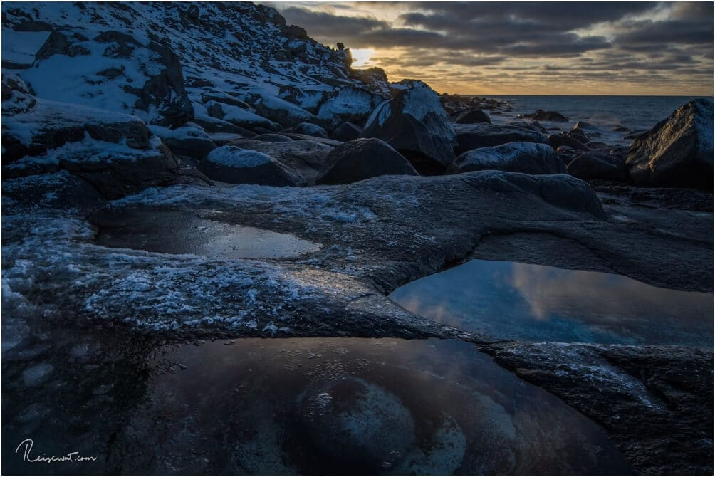 Das Auge zum Sonnenuntergang, einmal aus einer eher ungewohnten Perspektive fotografiert