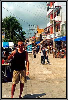 Die Einkaufszone in Playa del Carmen