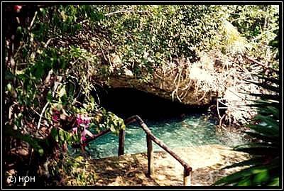 Cenote in Xcaret