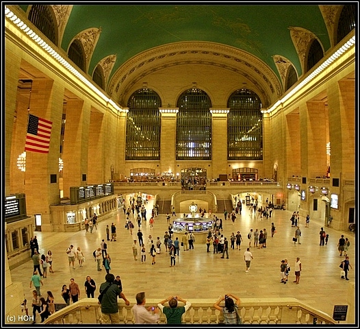 Der gigantische Eingangsbereich der Grand Central Station
