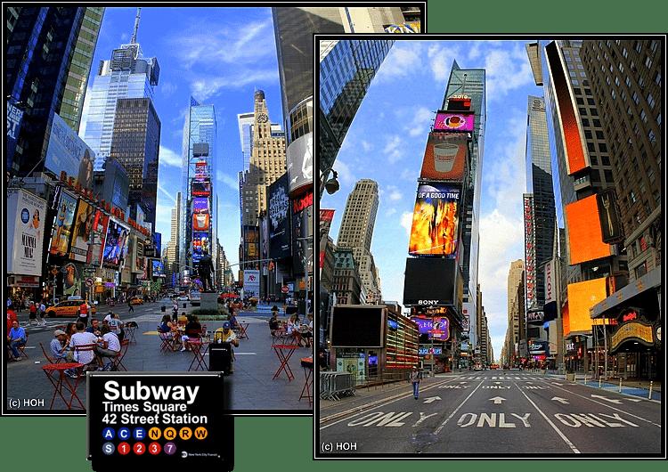 Times Square am frühen Morgen