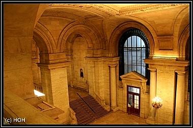 Der beeindruckende Eingangsbereich der New York Public Library