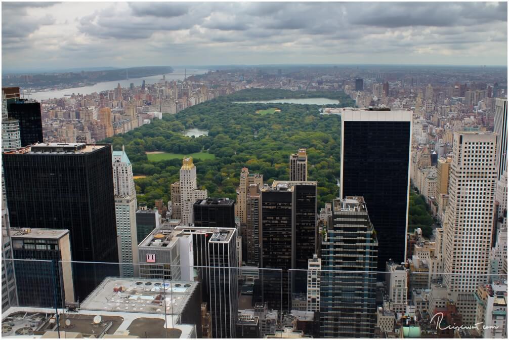 Der Blick in Richtung Central Park