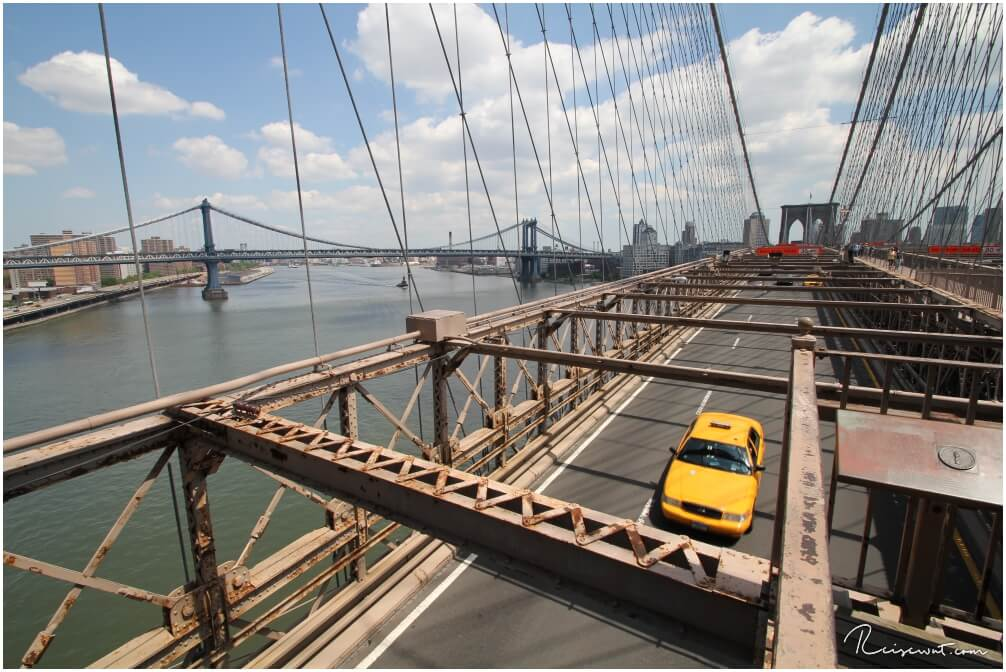 Typisches Szenario wenn man die Brooklyn Bridge überquert