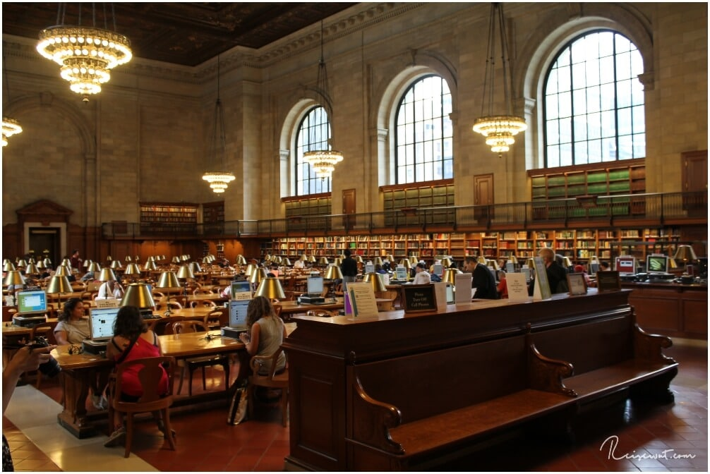 Die NYC Public Library erinnert unweigerlich an Hollywood-Filme, wie zB Ghostbusters