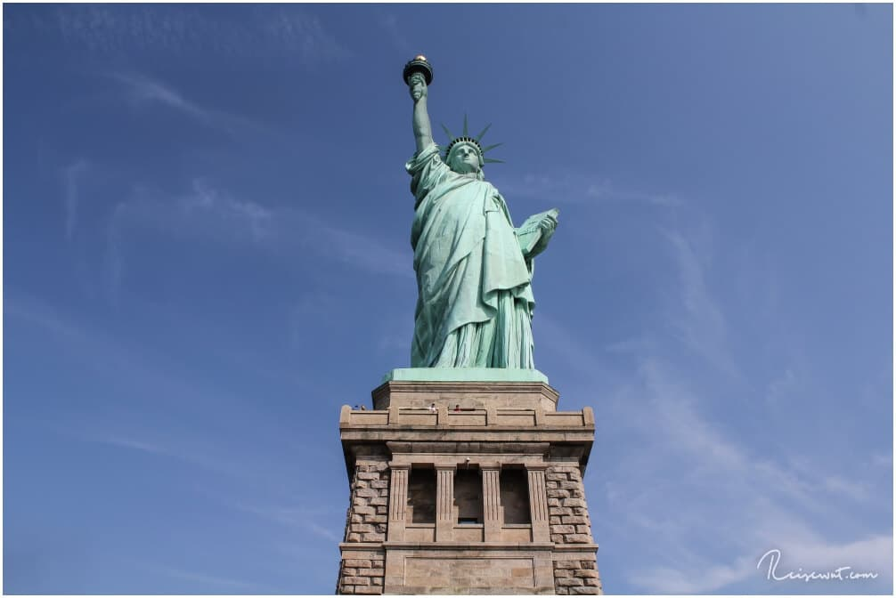 So nah kommt man der Statue of Liberty nur wenn man die Tour nach Liberty Island macht