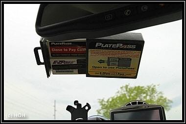 E-ZPass/PlatePass an der Frontscheibe