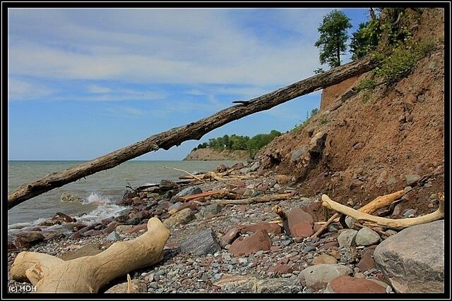 Das Ufer der eigentlichen Chimney Bluffs ist erreicht