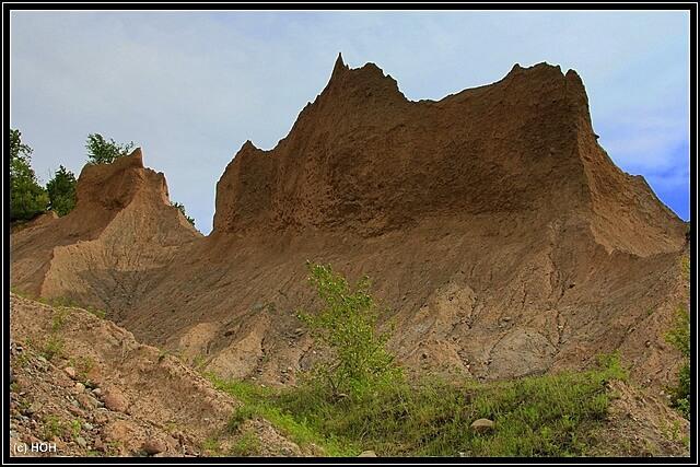 Blick von unten auf die Bluffs