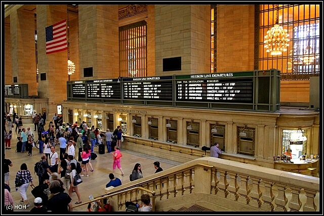 An - und Abfahrtzeiten der Züge ...