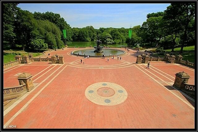 Blick auf die Bethesda Fountain