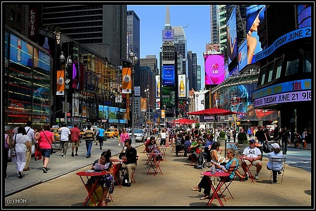 Relaxen am Times Square