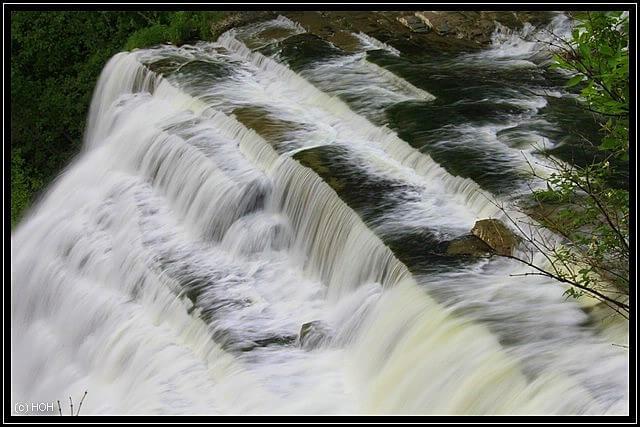 Ithaca Falls von oben