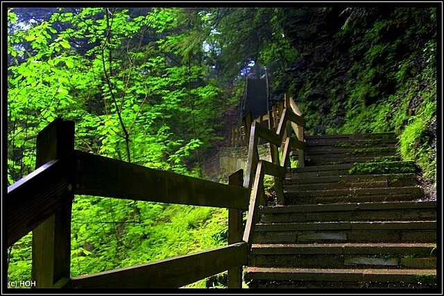 Das Ende naht beim erreichen der hölzernen Treppe