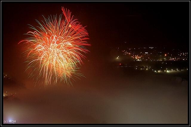 Feuerwerk am Abend