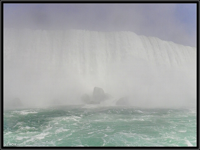 Inmitten der Horseshoe Falls