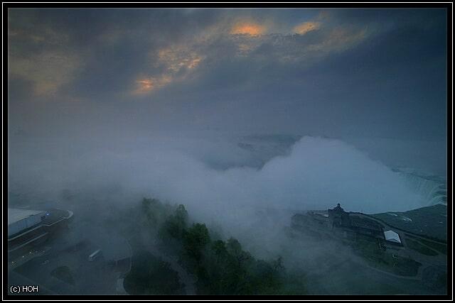 Kein wirklich gutes Wetter für eine Fahrt mit der Maid of the Mist