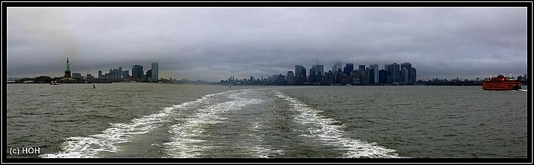 Manhattan von der Star Ferry aus gesehen