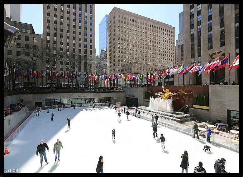 Ice Rink beim Rockefeller Center