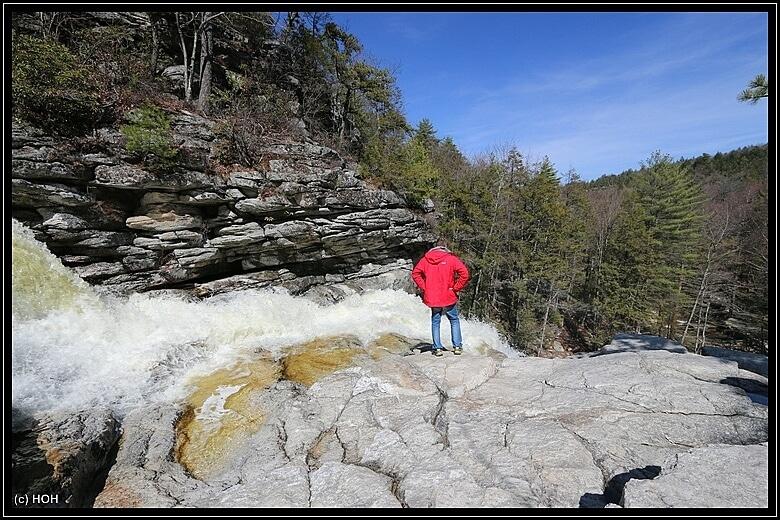 Awosting Falls Sturzkante