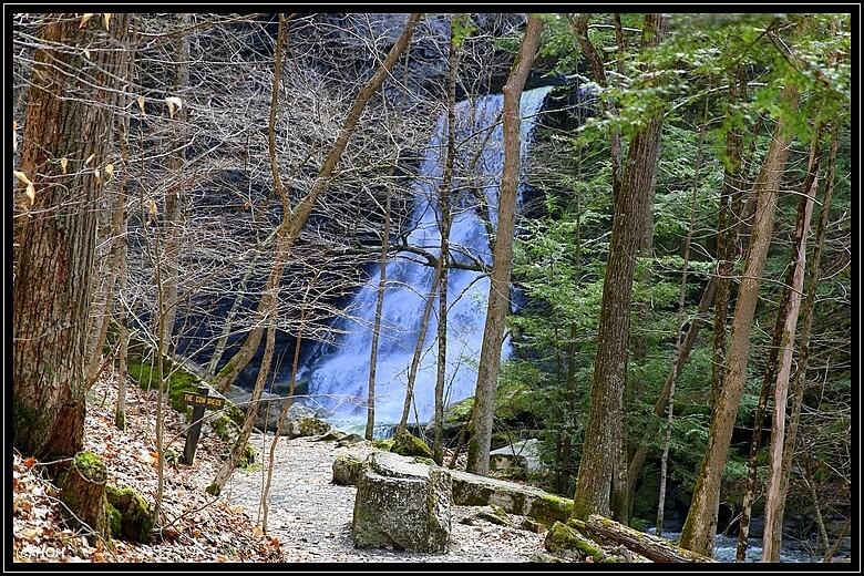 Lower Falls ... von der Absperrung aus geknipst
