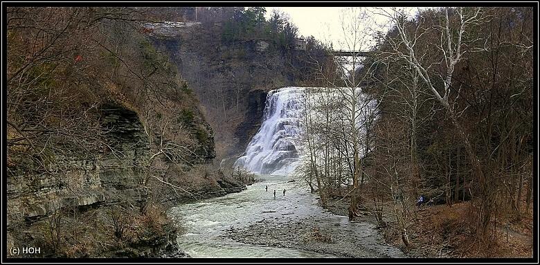 Ithaca Falls ... und einige Angler