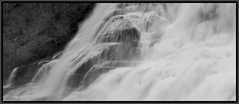 Ithaca Falls aus der Nähe