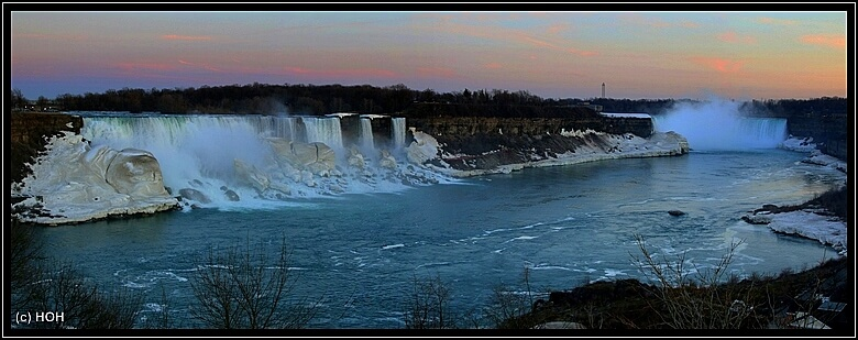Abendstimmung an den Niagarafalls