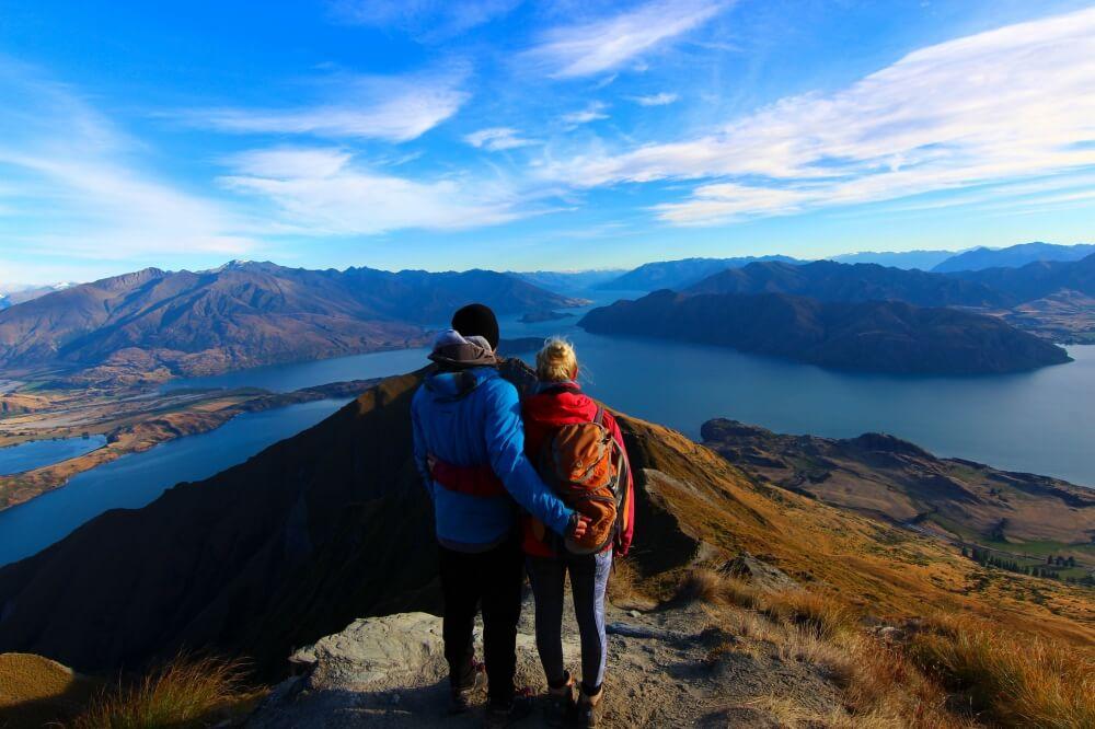 Roy's Peak in Neuseeland, eine der schönsten Wanderungen