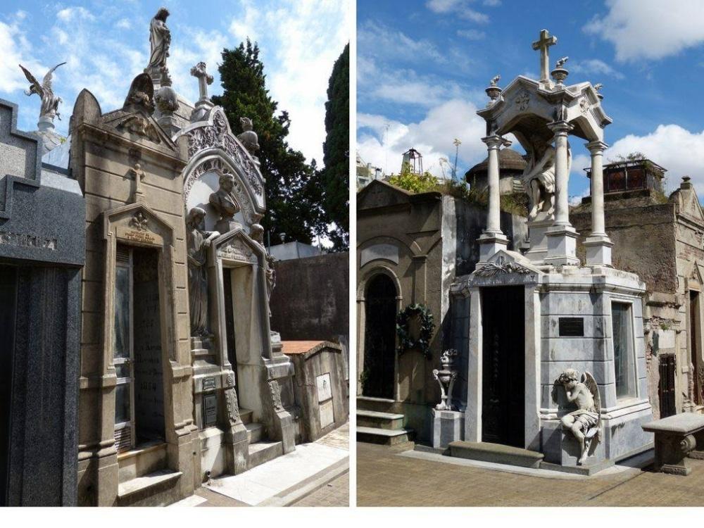 Der Friedhof Recoleta in Buenos Aires. Für mich meine absolute Lieblingsstadt in Buenos Aires, weil sie ein bisschen wie Paris, ein bisschen wie Mailand oder Madrid ist. Und der Froedhof mit seinen Mausoleen ist einer der tollsten Orte der Stadt.
