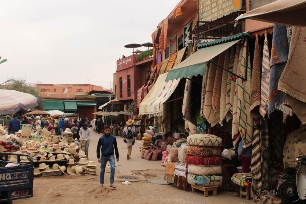 Markttreiben in Marrakesch