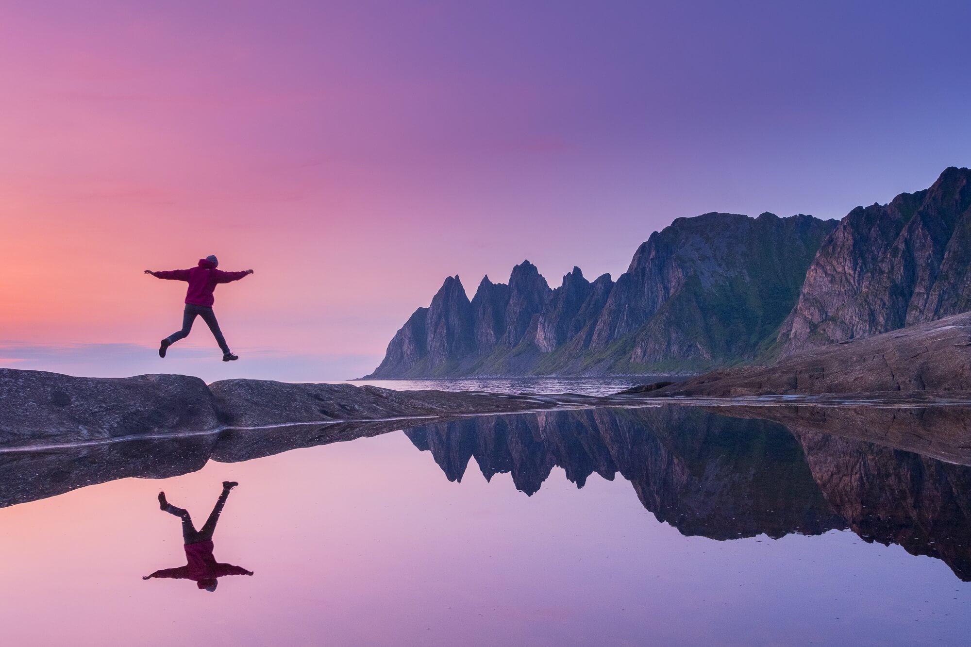 Norwegen - Die Bergwelt auf Senja hat uns total beeindruckt