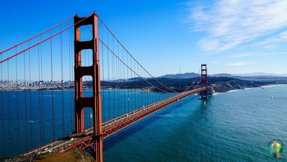 Ich wollte schon lange nach San Francisco und die Golden Gate Bridge sehen. Bei strahlendem Wetter hatte ich dann diesen atemberaubenden Ausblick und unglaublich große Glücksgefühle