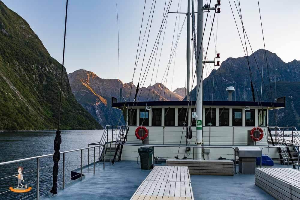 Neuseeland, Schiffstour im Milford Sound