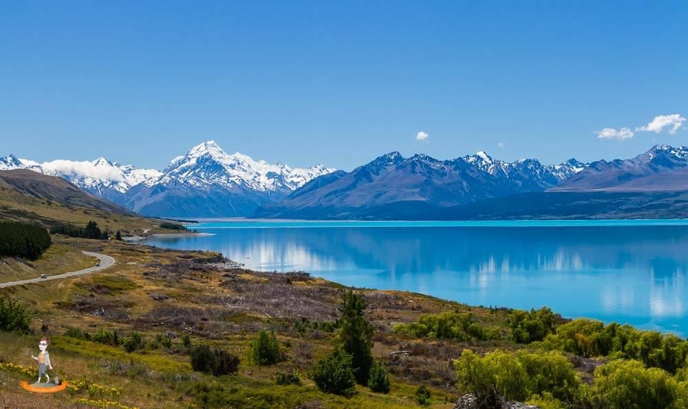 Neuseeland, Fahrt zum Mt.Cook Village