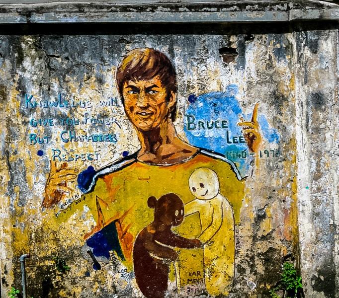 Streetart in Ipoh: Ipoh steht bei einigen nicht auf der Liste, doch die Stadt hat viel zu bieten. Vor Allem die Streetart. Besonders gut hat uns das Bild hier gefallen. Der Spruch passt einfach perfekt.