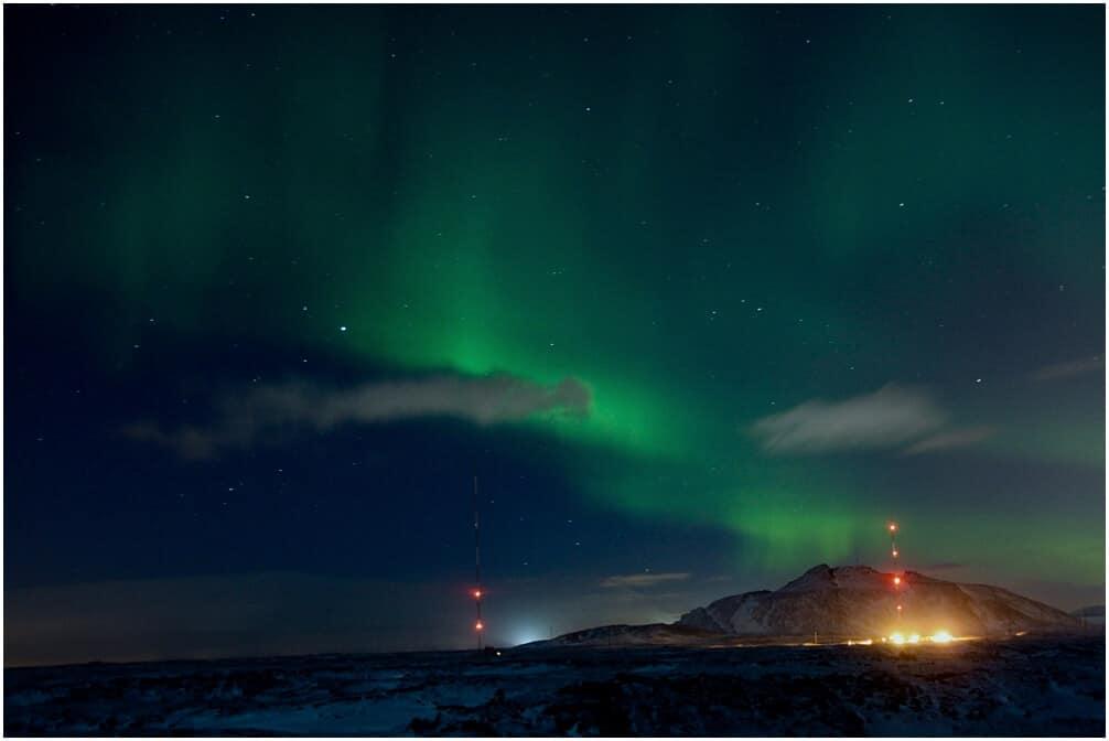 Unsere erste Sichtung der Nordlichter in Ìsland