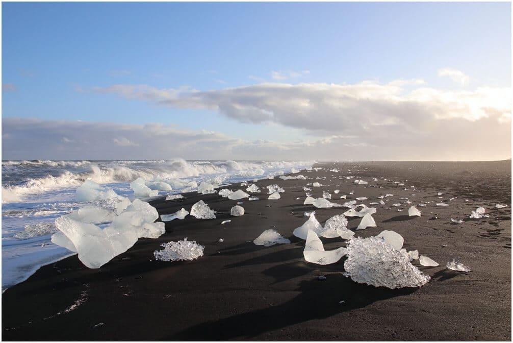 Diamond Beach im Süden von Ìsland