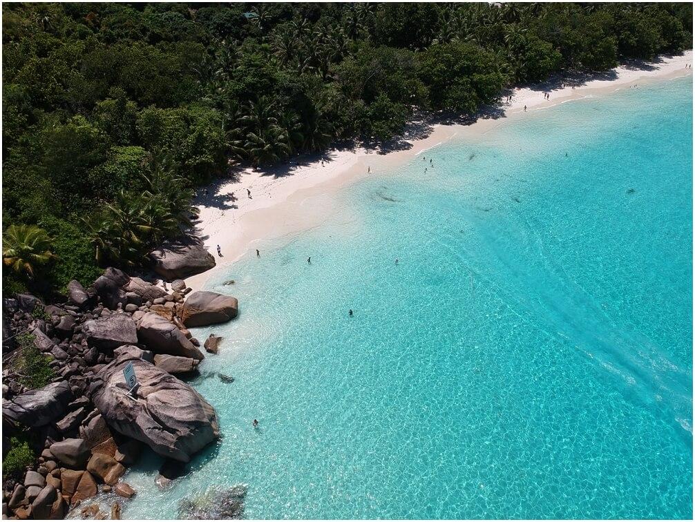 Der schönste Strand der Welt für uns. Anse Lazio, Praslin - Seychellen
