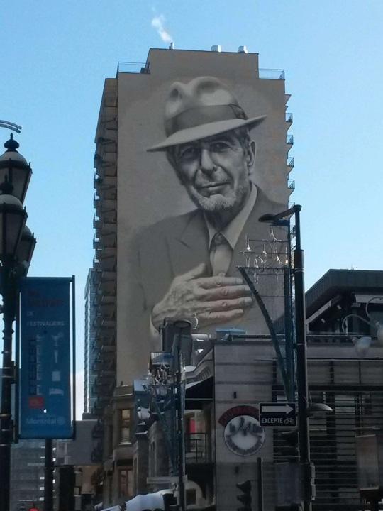 Leonard Cohen - Mural - Mein liebstes Wandgemälde in Montréal. Ohne ihn hätte ich meine eine Freundin in Montréal nie kennengelernt…