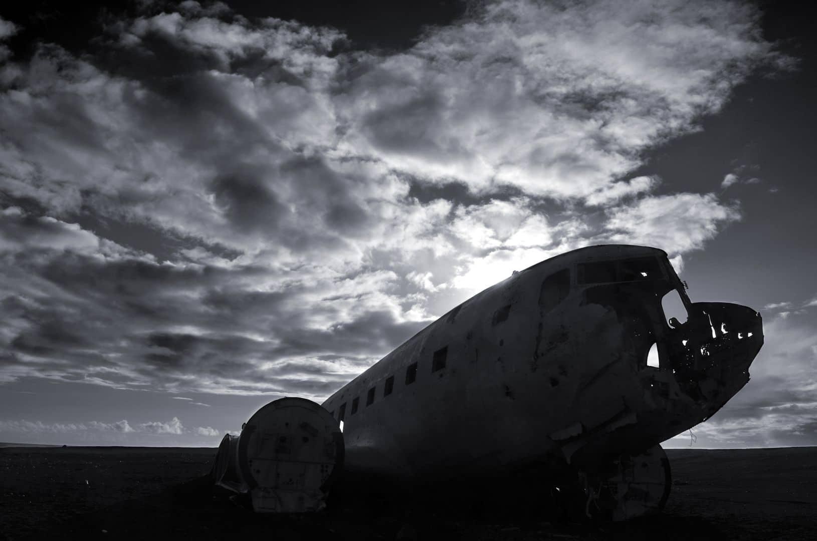 Auch das berühmte Flugzeugwrack am Strand hat uns fasziniert.