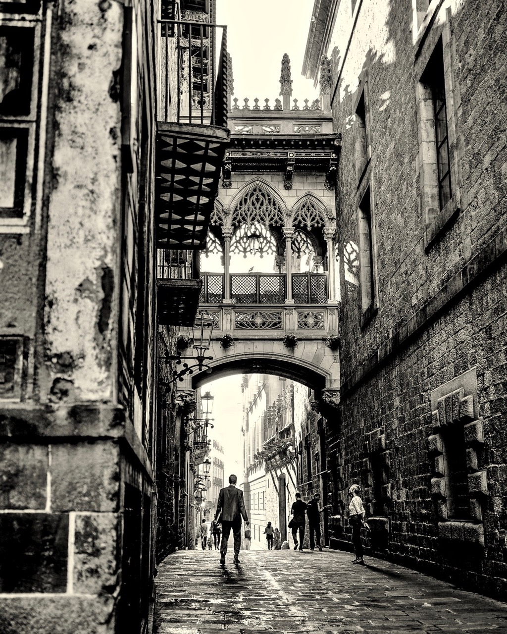 Seufzerbrücke Barri Gotic in Barcelona