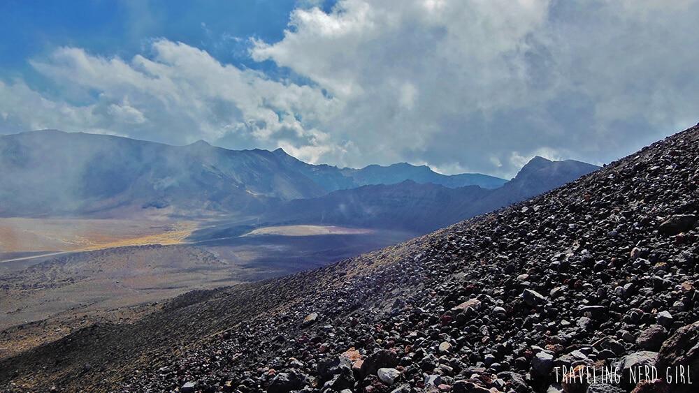 Beim Aufstieg auf den Mt Ngauruhoe oder auch Mt Doom/Schicksalsberg