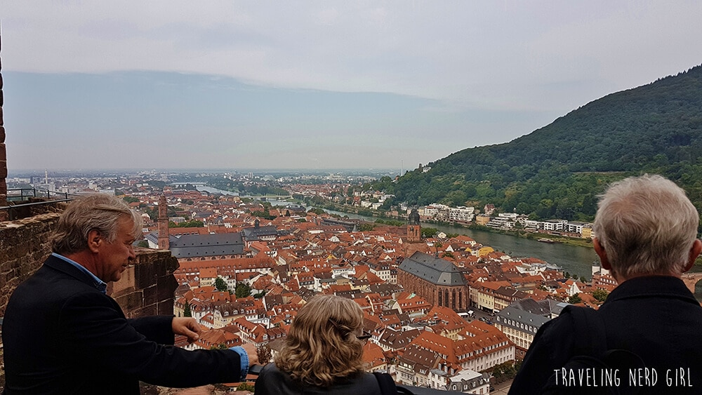 Aussicht über Heidelberg, ein kleiner Ausflug mit Star Trek-Schauspielern