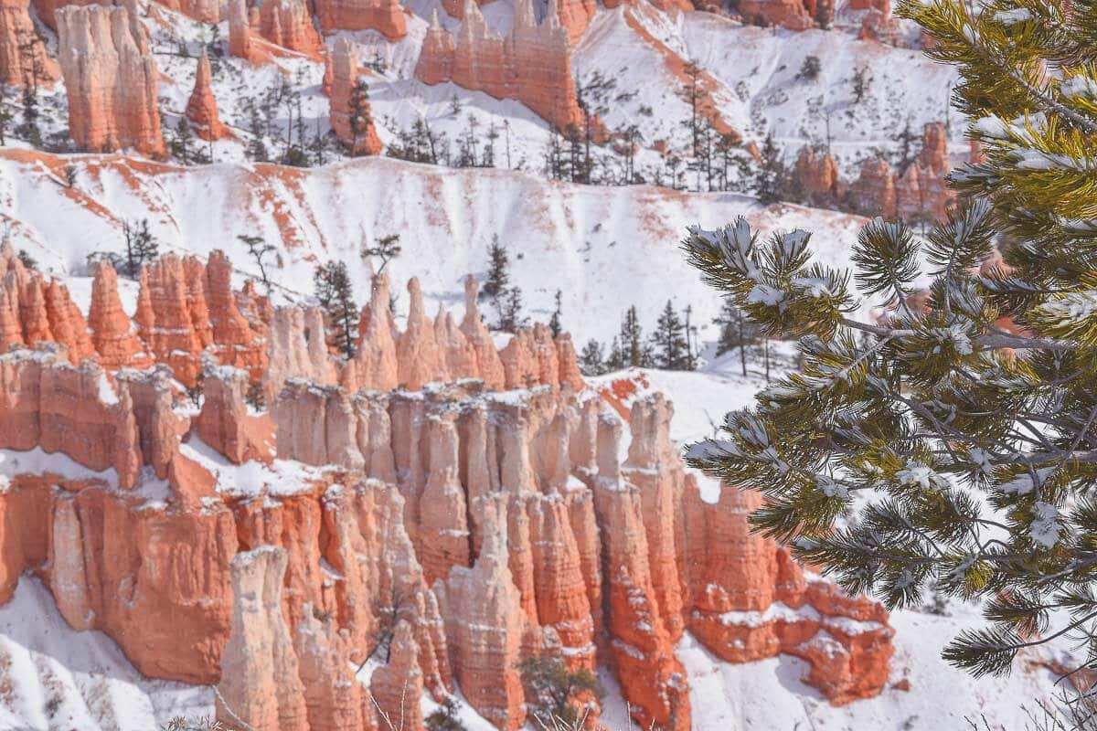 Bryce Canyon im Winter ist zauberhaft