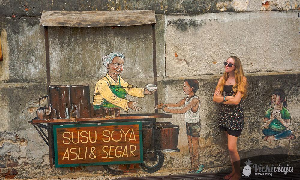 Beim Reisen darf der Spaß natürlich nicht zu kurz kommen - Streetart in Penang, Malaysia